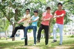 Dança do estilo de Gangnam Imagens de Stock Royalty Free