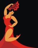 A dança do flamenco Fotos de Stock Royalty Free