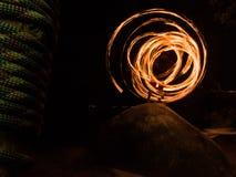 Dança do fogo Fotografia de Stock