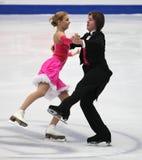 Dança do gelo Fotos de Stock