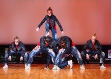 Dança do grupo da força de Banda Foto de Stock Royalty Free