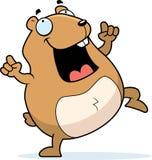 Dança do hamster ilustração royalty free