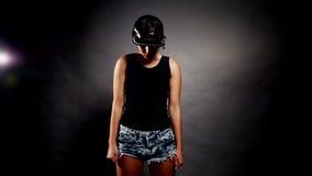 Dança do hip-hop da mulher video estoque