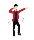 Dança do homem Imagens de Stock