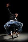 Dança do homem de Hip Hop imagem de stock