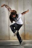 Dança do homem de Hip Hop Imagens de Stock