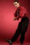 Dança do homem de negócios fotografia de stock royalty free
