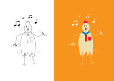 Dança do homem de negócios da galinha Foto de Stock Royalty Free