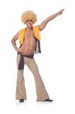 Dança do homem isolada Fotos de Stock Royalty Free