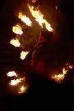 Dança do incêndio Foto de Stock