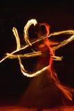 Dança do incêndio Imagem de Stock Royalty Free
