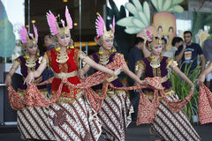 Dança do Javanese fotos de stock royalty free