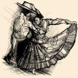 Dança do Latino Imagens de Stock