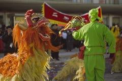 Dança do leão Fotografia de Stock Royalty Free