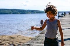 Dança do menino Imagem de Stock