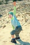 Dança do menino na natureza Fotografia de Stock Royalty Free