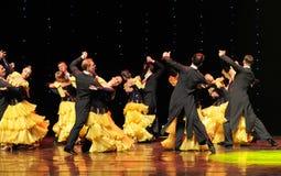 A dança do mundo da Áustria dança-elegante da valsa- do cavalheiro Imagens de Stock Royalty Free