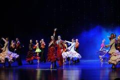 Dança do mundo de Áustria incenso-espanhola intoxicando do flamenco- do cabelo Imagens de Stock