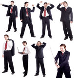 Dança do negócio Imagens de Stock Royalty Free