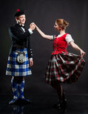 Dança do Scottish imagens de stock