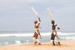 Dança do tribo Zulu imagem de stock