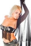 Dança do ventre. jovem mulher Fotos de Stock
