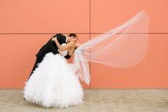 Dança do wedded recentemente Fotografia de Stock Royalty Free
