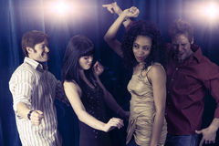 Dança dos amigos Imagem de Stock Royalty Free