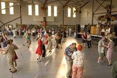 Dança dos atores da segunda guerra mundial fotos de stock royalty free