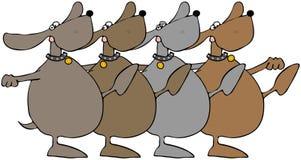 Dança dos cães ilustração do vetor
