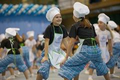 Dança dos cozinheiros Imagens de Stock Royalty Free