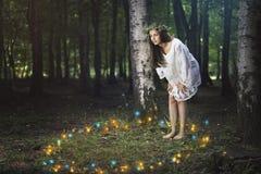 Dança dos espírito da floresta imagem de stock royalty free