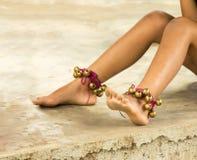 Dança dos pés das meninas Foto de Stock