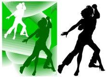 Dança dos pares Fotografia de Stock Royalty Free