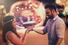 Dança dos pares no clube fotos de stock royalty free