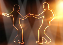 Dança dos povos Fotos de Stock Royalty Free