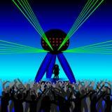 Dança dos povos em um disco Fotos de Stock Royalty Free