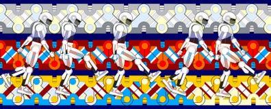 Dança dos robôs Ilustração Royalty Free