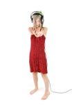 Dança e escuta Foto de Stock Royalty Free