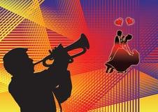 dança e música Imagens de Stock