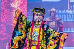 A dança e a música de Tang Dynasty mostram - Xian, China foto de stock