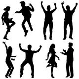Dança e salto Imagem de Stock Royalty Free