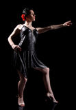 Dança elegante Fotografia de Stock Royalty Free