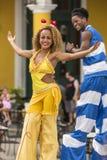 Dança em pernas de pau Havana Imagem de Stock Royalty Free