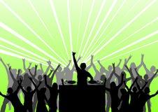 Dança em um partido Fotografia de Stock Royalty Free
