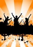 Dança em um partido Imagens de Stock Royalty Free