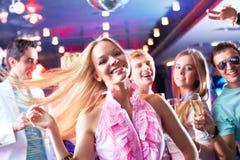 Dança energética imagens de stock