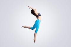 Dança energética da menina Imagem de Stock