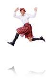 Dança escocesa do homem Imagens de Stock Royalty Free