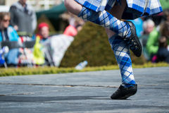 Dança escocesa tradicional das montanhas Imagens de Stock Royalty Free